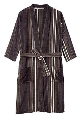 Kingsize Men's Big & Tall Terry Velour Kimono Robe