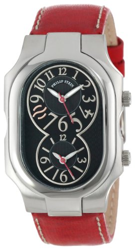 Philip Stein Unisex 2-BK-CSTR'Signature' Stainless Steel Watch with Leather Band