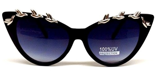 Black Cat Eye Silver Birds - Sunglasses With Beyonce