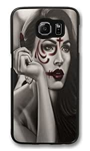 Dead Lipstick Polycarbonate Hard Case Cover for Samsung S6/Samsung Galaxy S6 Black