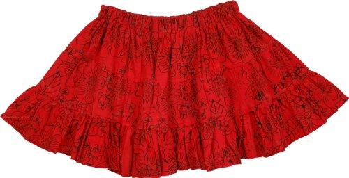 Milano Womens Skirt (TLB - Milano Red Short Mini Skirt - Length: 13