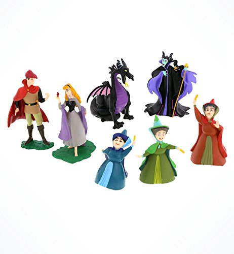 Disney Sleeping Beauty Aurora Collectible Figurine Playset Play Set Cake Topper