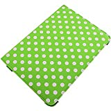 360 Degree Folio Stand Case for Samsung Galaxy Note 10.1, White Dots Green