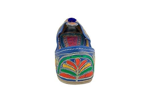 Trinn N Style Kvinners Tradisjonelle Design Sandle Multi Punjabi Oss Indian Mojari Khussa Jutti Flerfarget