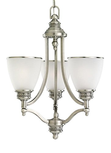 Sea Gull Lighting 31349EN3-965 Three Light Chandelier, Antique Brushed Nickel