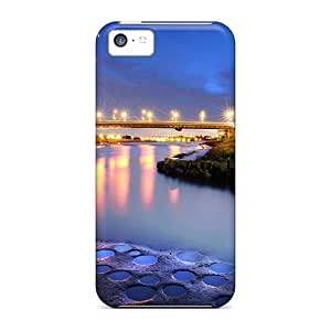 LJF phone case Wade-cases Fashion Protective Dazhi Bridge In Taipei City At Night Case Cover For Iphone 5c