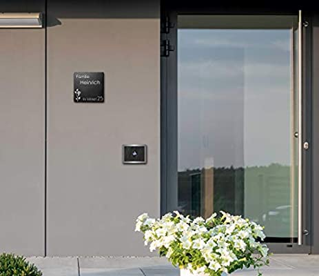 Placa de pizarra para puerta con grabado, placa para el nombre ...