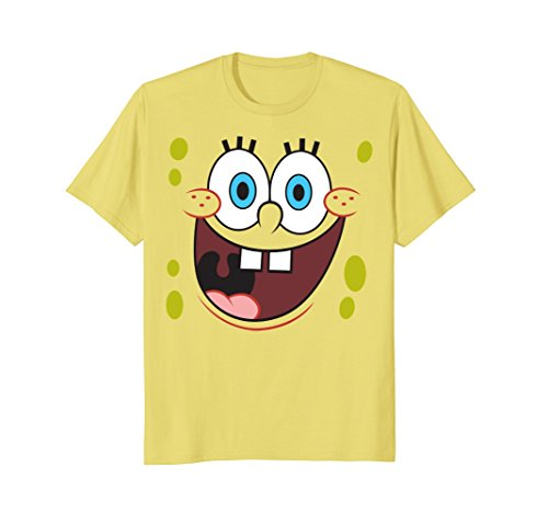 Spongebob Printed T-shirts (Spongebob Squarepants Bright Eyed Smiling Face T-Shirt)