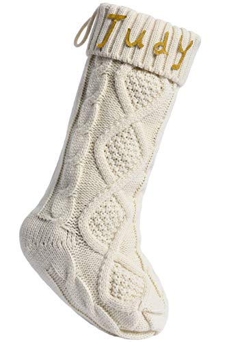 FT.Sky Knit Christmas Stockings - DIY Personalized Xmas Holiday Fireplace Decorations 18