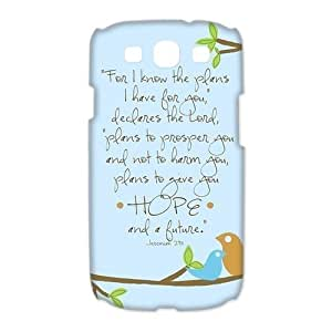 Custom Your Own protective Bible Verse SamSung Galaxy S3 I9300 Case, Personzlised Bible Verse Samsung s3 Case Cover by runtopwell