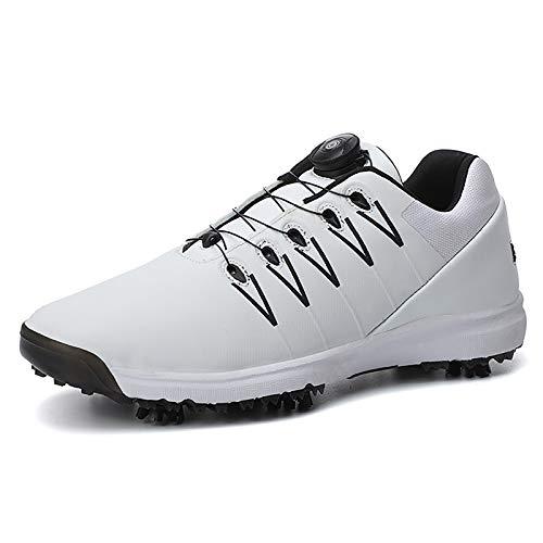 Golfschoenen voor volwassenen, uniseks Lichtgewicht Golf Shoes Verwijderbare spikes Waterdicht, ademend BOA-vetersysteem…