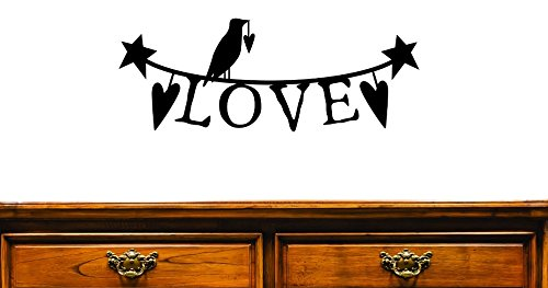 20 x 40 Black Design with Vinyl JER 1206 3String of Love Design Home Decor Picture Art Vinyl Wall Decal