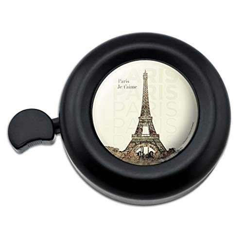GRAPHICS & MORE Paris, Je T'Aime I Love You Eiffel Tower City Map Bicycle Handlebar Bike Bell