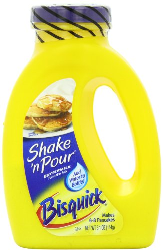 Bisquick Shake 'N Pour Buttermilk Pancake Mix, 5.1-Ounce Containers (Pack of 12) (Pancake Lil)