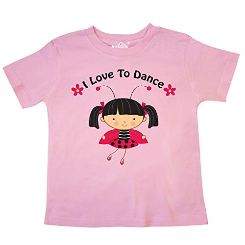 - inktastic - I Love to Dance Ladybug Toddler T-Shirt 4T Pink c62b