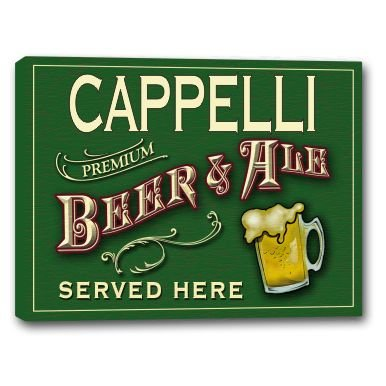 cappelli-beer-ale-stretched-canvas-sign-16-x-20