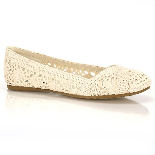Soda Women Faddy-s Flats, Beige, 6