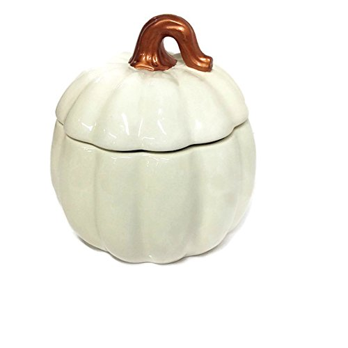 (Two's Company Large Ceramic Pumpkin Soup Tureen Serving Bowl)