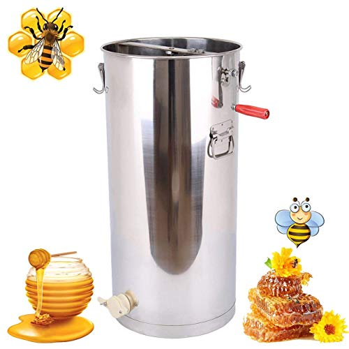 Ridgayard Honey Extractor Beekeeping Supply Beehive Processing Extraction Unit 2 Frame Stainless Steel Honeycomb Drum