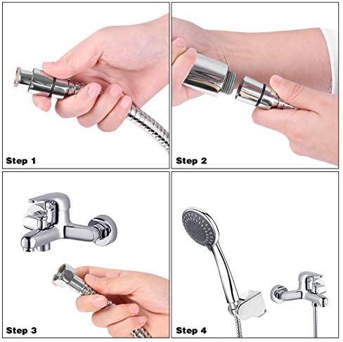 ajustable Juego de alcachofa de ducha de mano con manguera y soporte para alcachofa de ducha de alta presi/ón ahorro de agua Sanlinkee