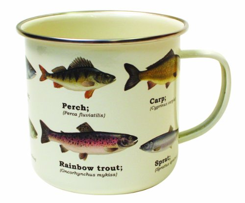 ... Gift Republic GR270027 Fish Enamel Mug, Multi