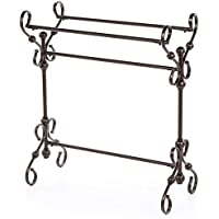 Quilt Rack Made of Metal With Three Bars For Hanging In Antique Bronze Color Perfect For Any Room