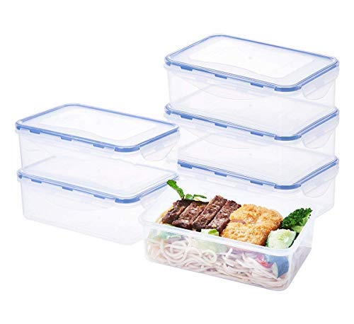 EASYLOCK Plastic Food Storage Containers, BPA-Free Food Containers Sets with...