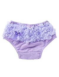 Fenteer New Baby Infant Girls Ruffles PP Pants Bloomers Briefs Diaper Nappy Cover Shorts - Purple, M for 0-6Months