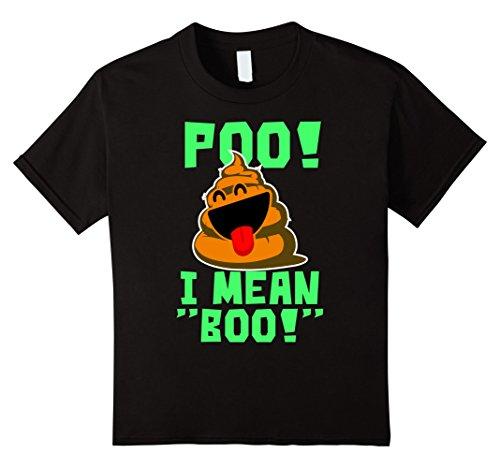 Kids Poo I Mean Boo Funny Halloween Pumpkin Face Poop T-Shirt 4 (Mean Halloween Pumpkin Face)