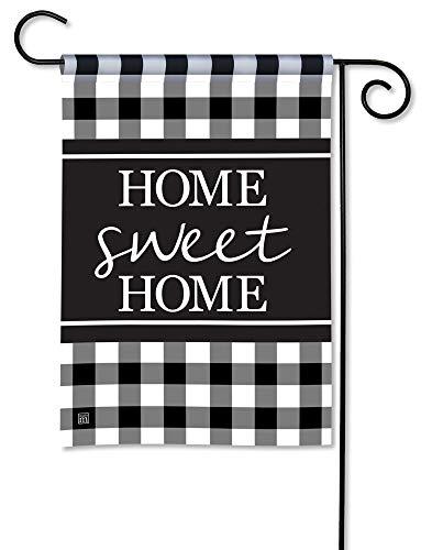 - BreezeArt Studio M Black & White Check Decorative Garden Flag - Premium Quality, 12.5 x 18 Inches