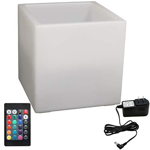 Sunnydaze Indoor/Outdoor LED Ice Bucket with Remote Control, Rechargeable Battery, RGB Color-Changing, 16-Inch Cube by Sunnydaze Decor (Image #3)