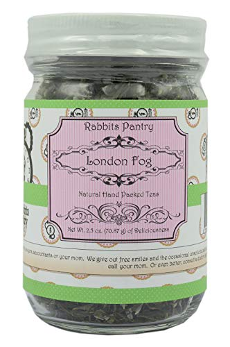 Rabbits Pantry - London Fog Green Loose Leaf Tea - NON GMO - Handcrafted - Blended with Green tea, Lavender, Vanilla, Bergamot ()
