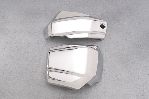YAMAHA V STAR 650 CLASSIC CUSTOM CHROME BATTERY SIDE COVERS VSTAR