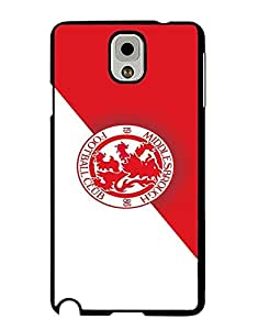 Mewmewtat - Luxury Series Classical Design Samsung Galaxy Note 3 Hard Plastic Cell Phone Funda Case Cute Bling Tough Durable Protective Funda Case Middlesbrough F.C Back Film Protector Skin For Girls