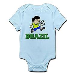 CafePress - Brazil Football (Soccer) Infant Bodysuit - Cute Infant Bodysuit Baby Romper by CafePress