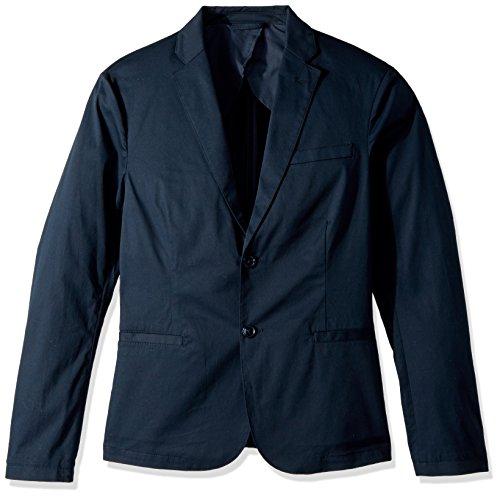 A|X Armani Exchange Men's Cavalry Twill Two Button Blazer, Navy, 42