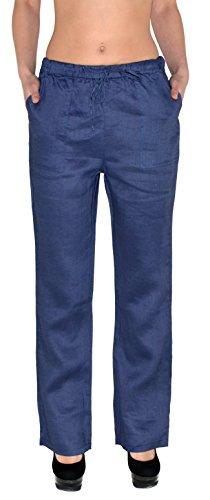 Pantalons de H108 Pantalons Femmes Femmes d't Femmes de Rlax tex Jean bleu Loisirs Lin H108 de Pantalon Pantalons by vpBwq