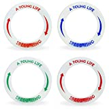 [4 PACK] Best Beach Toys Outdoor Games: Speed Rings for Boys and Girls - Glow in The Dark - Light Flying Disc Floats On Water - For 4, 5, 6, 7, 8, 9, 10 year old Birthday Gifts and Up - Made in USA