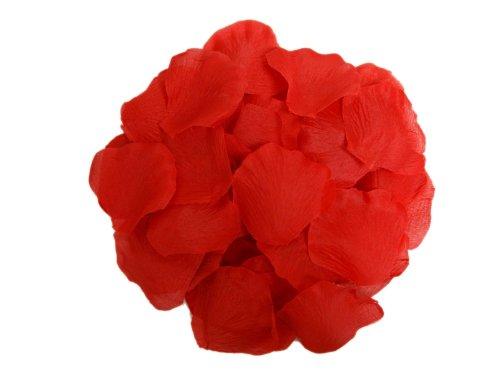 2000 Silk Rose Petals Wedding Decorations Bulk Supplies - (Red Rose Petals)