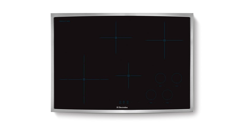 "Electrolux EW30IC60LSIQ-Touch 30"" Black With Stainless Steel Trim Electric Induction Cooktop"