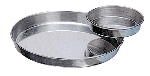 Tourti/ère lisse fer blanc diam/ètre 20 cm hauteur 2,3 cm