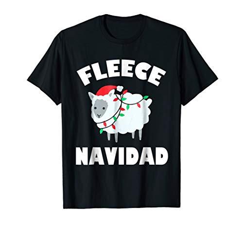 Fleece Navidad T-Shirt Funny Feliz Navidad Sheep Gift Tee ()