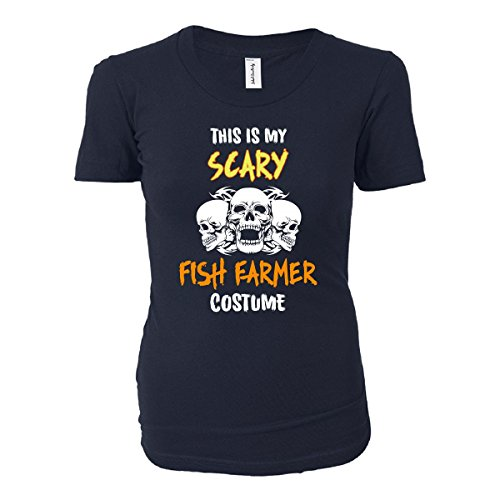 [This Is My Scary Fish Farmer Costume Halloween Gift - Ladies T-shirt] (Farmers Daughter Halloween Costume)