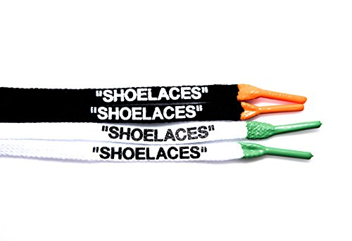 ''Shoelaces'' Custom Printed Shoe Laces with Silicone Tips Oval/Flat Lace Swap Cotton & Polyester Designs by xxiii (Image #2)