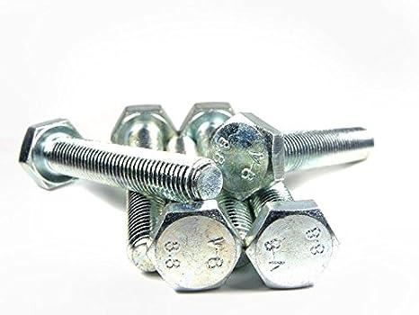 10 St/ück ISO 4017 PROFI Sechskant Schraube Vollgewinde G/üte 8.8 verzinkt Stahl geh/ärtet DIN933 PROFI 6kt VGW G8.8 VZ SGH DIN 933 M8 x 25