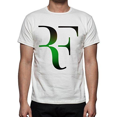 Palalula Men's Tennis Roger Federer T-Shirt M White