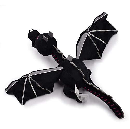 GrandToyZone DOLL SERIES 60cm (23.6 inch) - Dragon Plush Toy - Black Enderdragon PP Cotton ()
