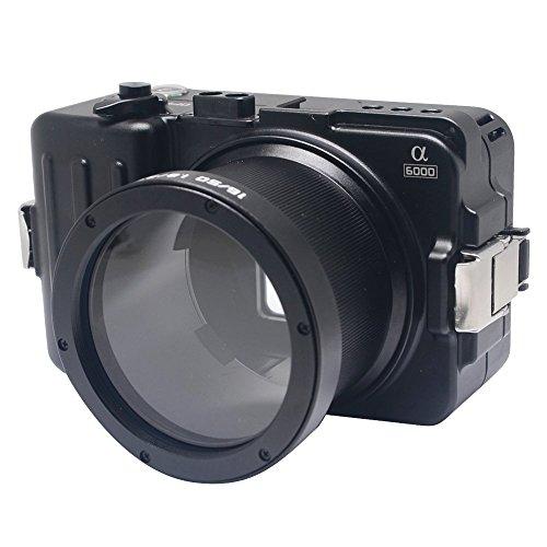 Mcoplus wp-a6000100m/325ft Aluminium Legierung Wasserdicht Schutzhülle Unterwasser Kamera Tauchen Gehäuse Tasche für Sony A6000Kamera