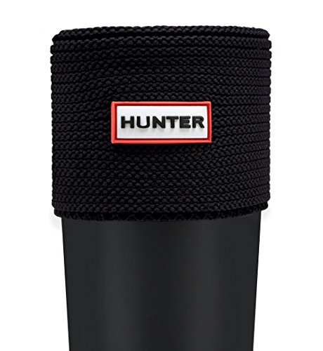 Hunter Calcetines cortos para bota de punto bobo UAS3043AAM / NEGRO - Calcetines de forro polar para botas de agua, color negro, L
