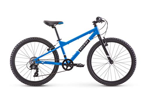 Raleigh Bikes Rowdy 24 Kids Mountain Bike for Boys Youth 9-12 Years Old, Blue (Years Old Bike For 9 Kids)